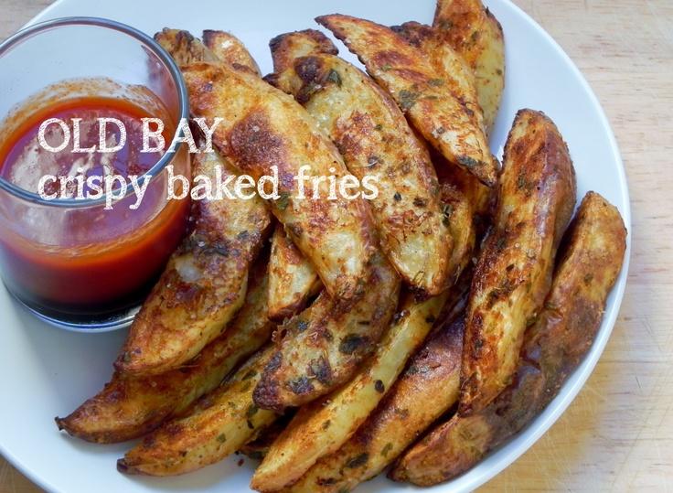 Crispy Oven-Baked Old Bay Potato Wedges. Made many times using italian ...