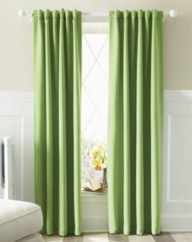 blackout curtain ideas Green Pinterest