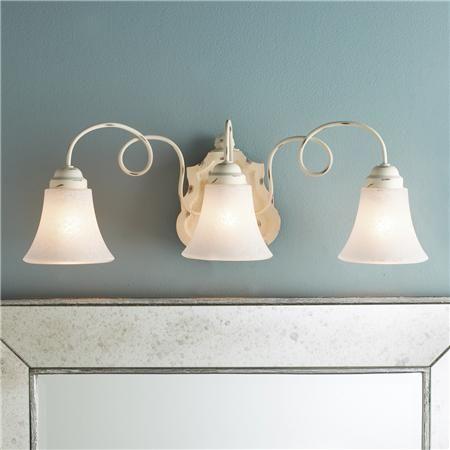 Shabby chic bath light for French country bathroom lighting