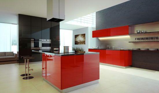 48 Exquisite Kitchen Interior Design  Red kitchen  Pinterest