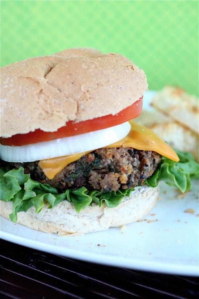 black bean burgers ~ vegetarian recipe ~ adapted from veggie burgers ...
