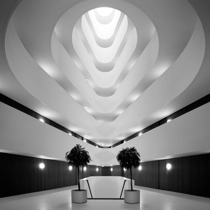 Futuristic interior design minimalistic modern architecture