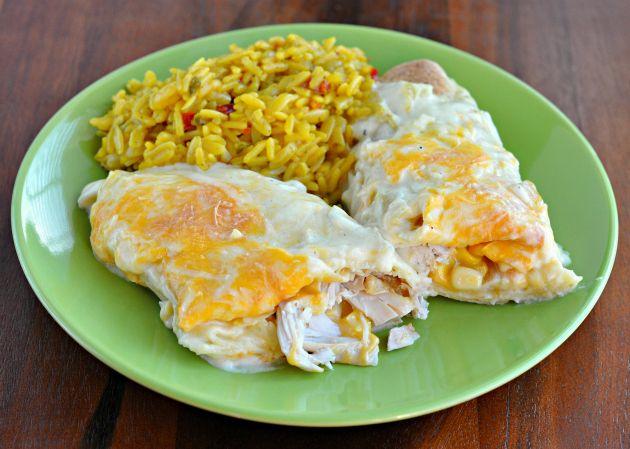 Recipe | Easy and Creamy White Chicken Enchiladas should be easy ...