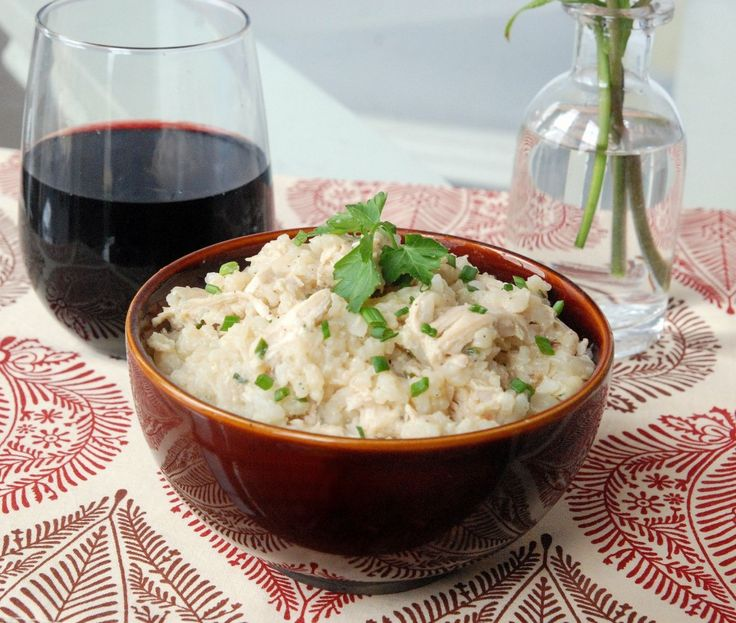 Herbed Risotto with Chicken and Caramelized Onions | Recipe