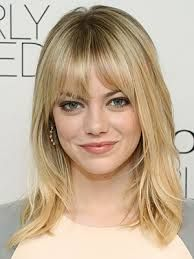 Emma Stone with bangs