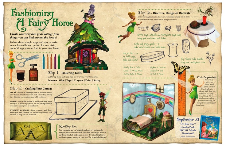 how to make tinkerbell house