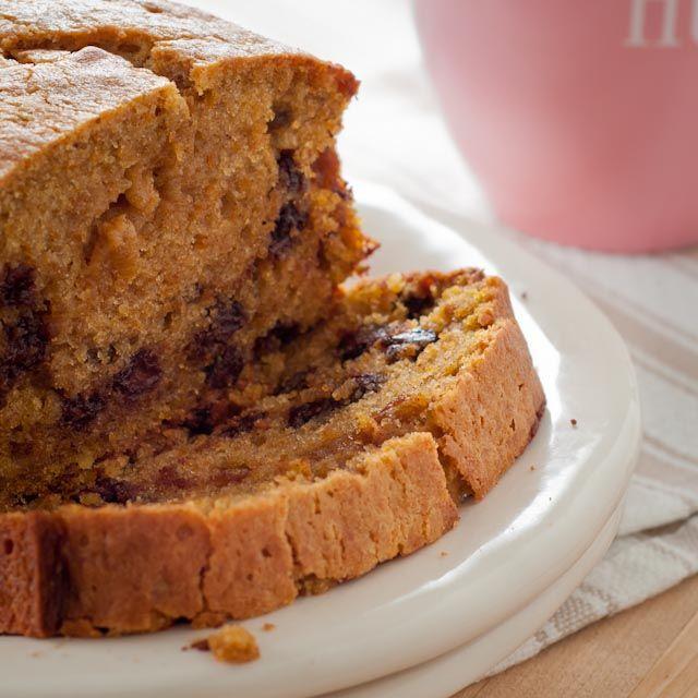 Pumpkin chocolate chip bread.. @Haylie Remember when Mrs. Moss made ...