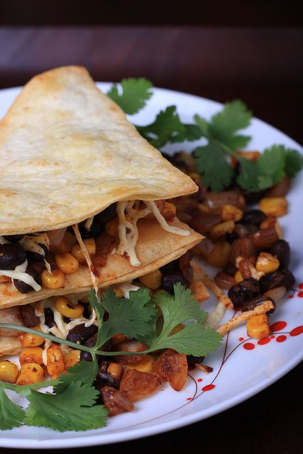 Olives for Dinner: Black Bean and Corn Quesadillas with Smoked Paprika