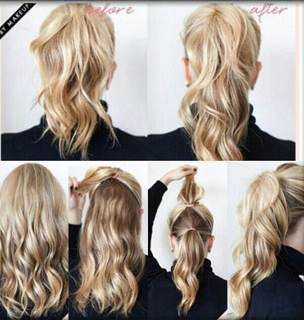 Hair Style Use Your Own Picture : How To Cut Your Own Hair Using 5 Different Ponytail Ideas This Is ...