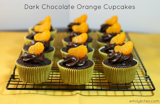 Dark Chocolate Orange Cupcakes | Recipe