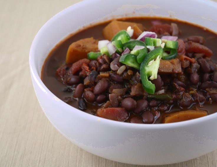 Black Bean Chili With Butternut Squash Recipe — Dishmaps