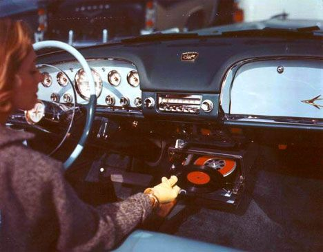 listening to vinyl, driving