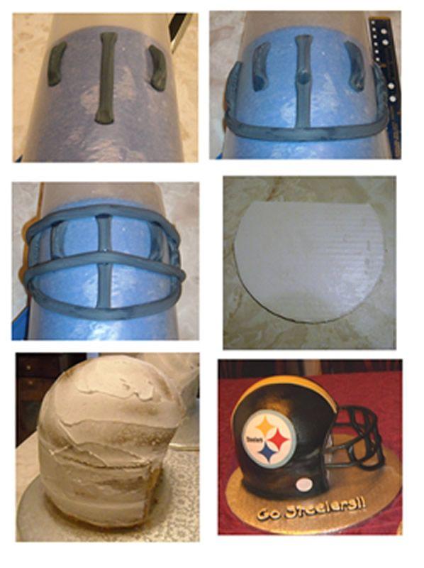 how to make a football helmet cake