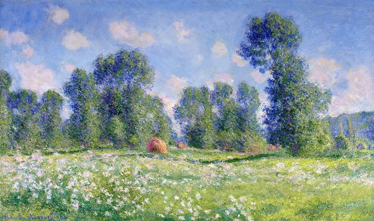 Effect of Spring, Giverny, 1890 (oil on canvas) by Claude Monet (1840-1926)