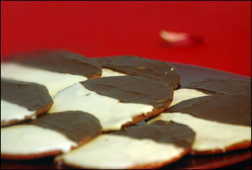 Red Velvet Black and White Cookies! | Food, Glorious Food (and Drink ...