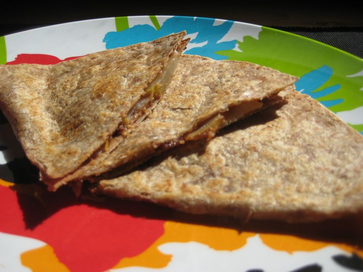 Quick & healthy breakfast for kids: Peanut Butter & Apple Quesadilla ...