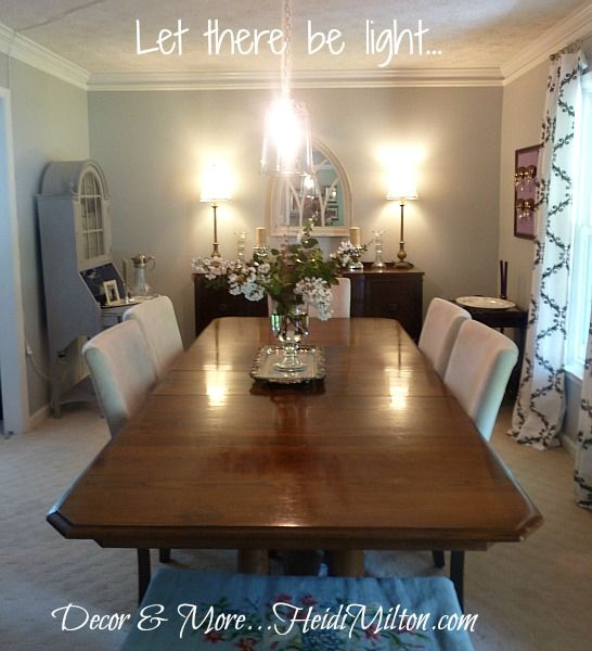 DIY pendant light fixture for the Ugly Duckling Dining Room.