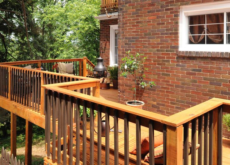 two toned deck railing | Deck | Pinterest