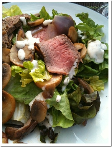 Steak & Mushroom Salad {with creamy horseradish dressing} :: email me ...