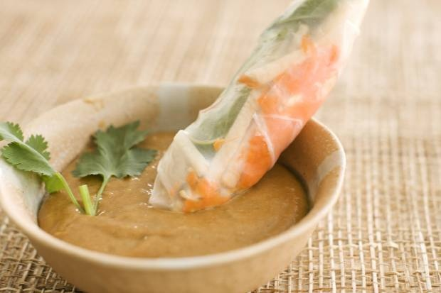 Summer Rolls with Spicy Peanut Sauce | Foodie | Pinterest