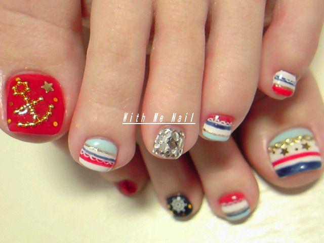 nautical nail art pinterest