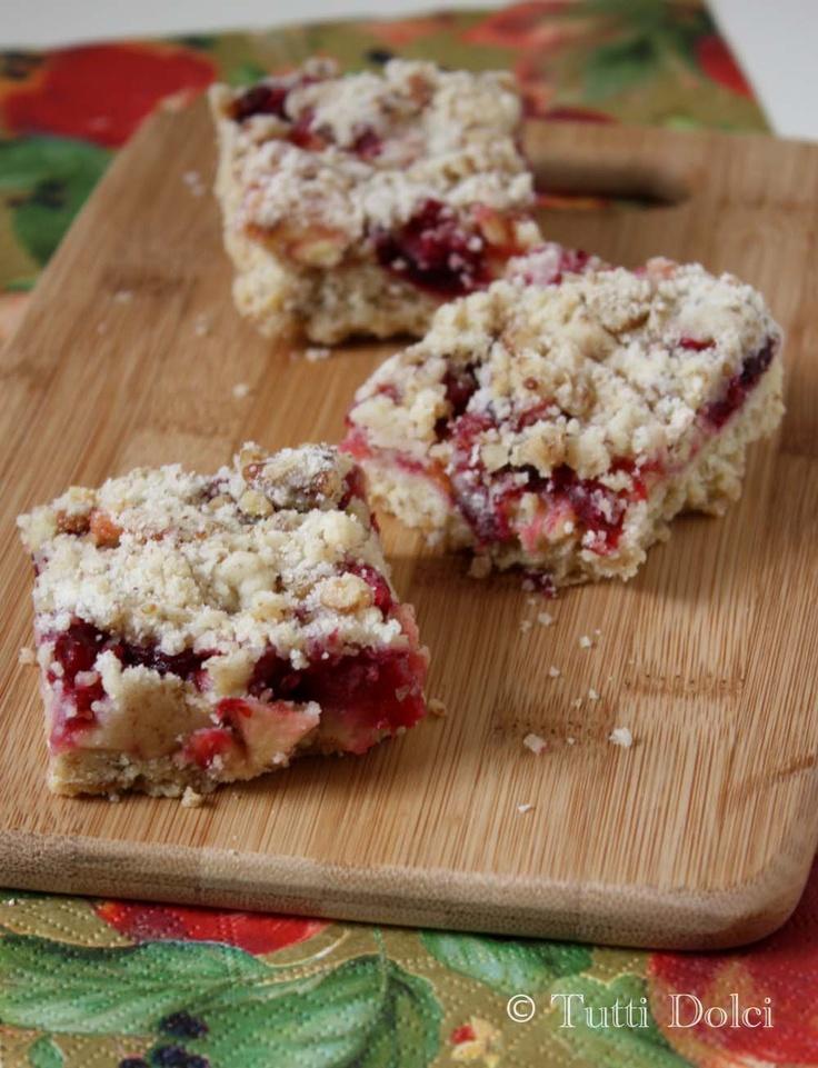 Cranberry Pecan Crumb Bars