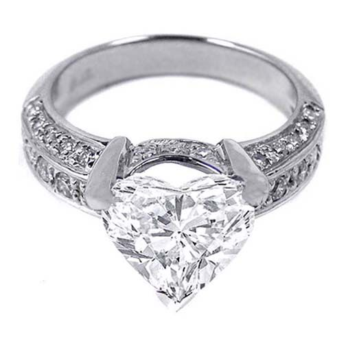 heart shape diamond engagement ring sparkle farkle