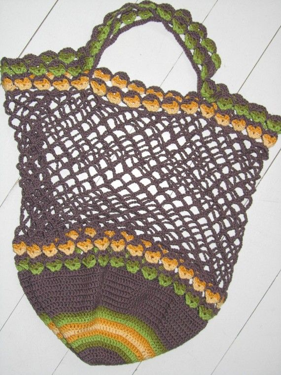 Grocery Bag Crochet : Crochet shopping bag: pdf pattern to buy