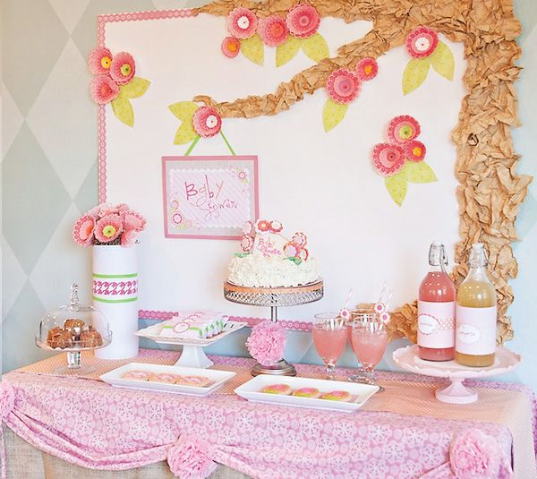 "Pretty Pink Flower ""A Baby Hour"" Shower"