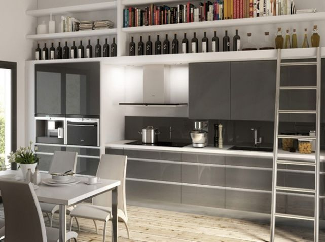 cuisine avec etagere but la cuisine kitchen pinterest. Black Bedroom Furniture Sets. Home Design Ideas