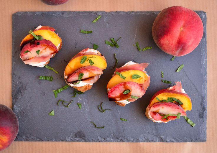 peach prosciutto bruschetta peach prosciutto bruschetta peach peach ...