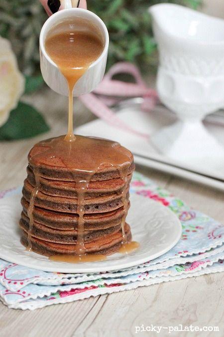 Chocolate Egg Nog Pancakes | Pancake house | Pinterest