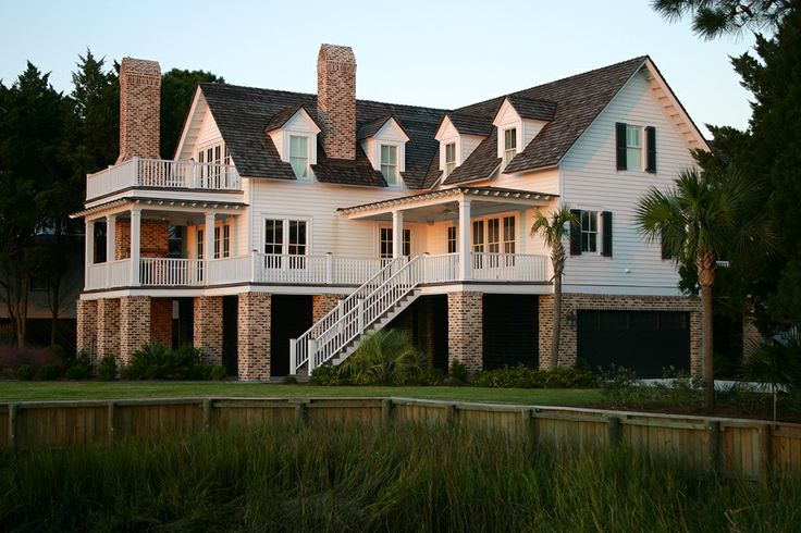 Beautiful Raised Low Country Style Home House Type Low Country