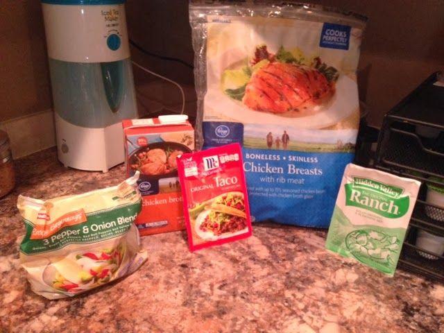 Simple Crockpot Chicken Tacos | Recipes | Pinterest