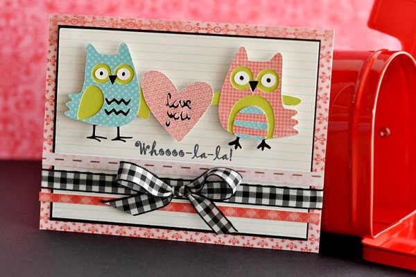 """""""Love you"""" card made with the Cricut!"""