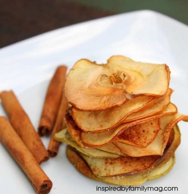 Healthy Afterschool Snack- Apple Chips | For the BOYS! | Pinterest