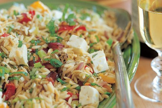 Ina Garten's orzo with roasted vegetables from Barefoot Contessa ...