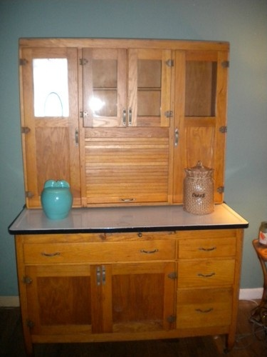 antique hoosier cabinet looking for a restoration project to put in