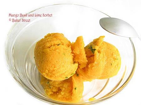mango basil lime sorbet   Meant to be eaten   Pinterest