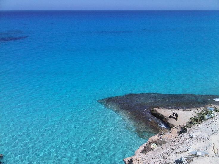 Mersa Matrouh, Egypt. Clear sea