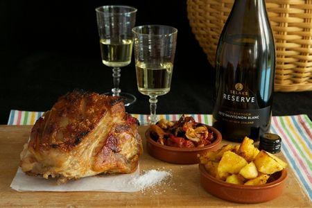 Pork Shoulder, Braised in Apple Cider Vinegar with paprika potatoes