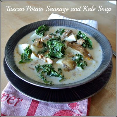 Gourmet Cooking For Two: Tuscan Potato Sausage and Kale Soup