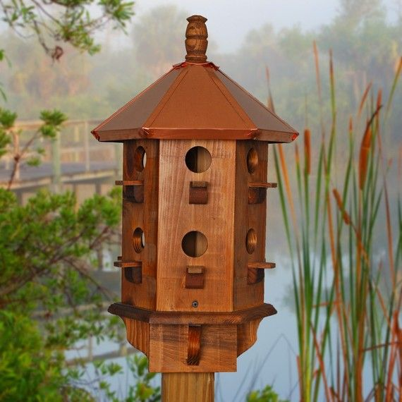 Purple Martin Bird Houses Wooden Rustic Farmhouse Style