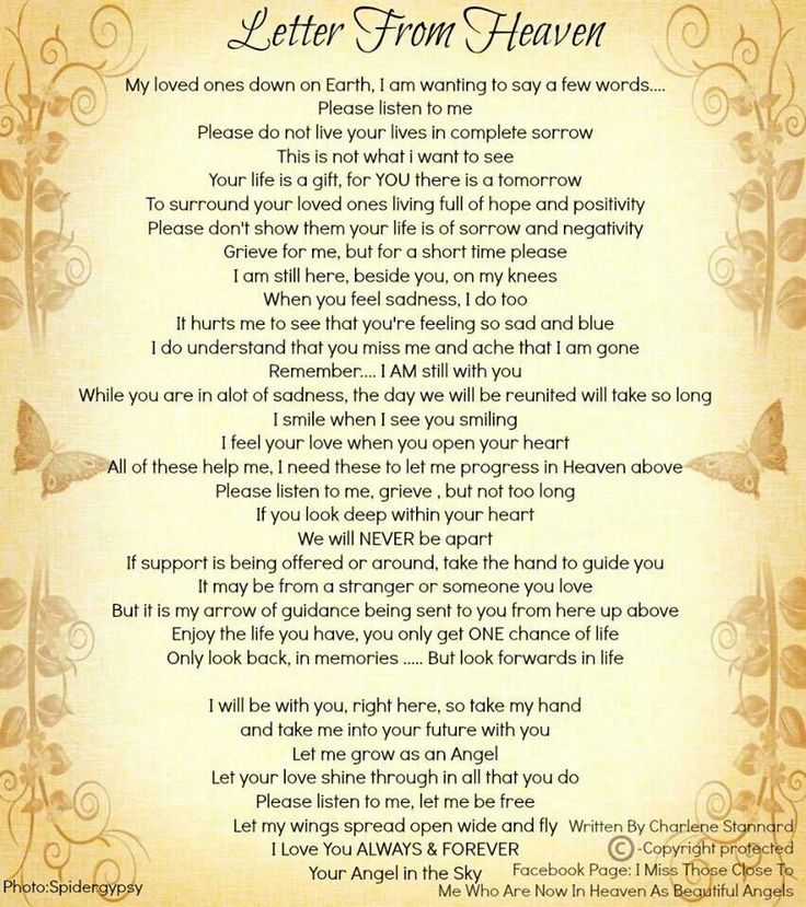 Letter From Heaven | Grief | Pinterest
