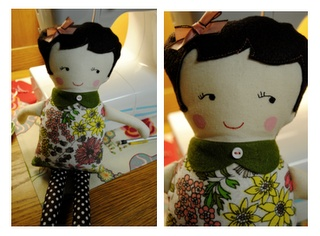 doll tutorial with free black apple doll pattern