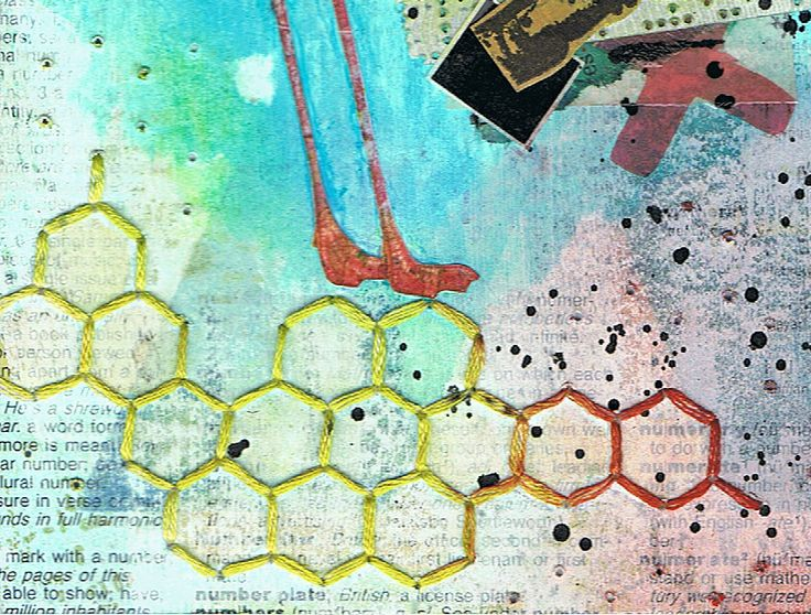 Art Journal - 'One Step' (close up)  Mixed media by http://inkyfingersstore.blogspot.com.au/