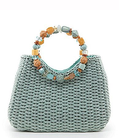 NEED THIS IN WHITE - Blue Miami Woven Tote Bag #Dillards here I come ...