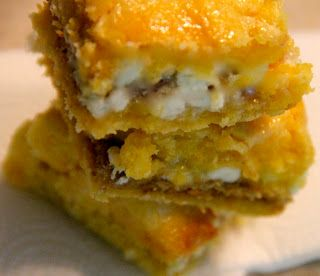 White Chocolate S'mores Gooey Cake Bars Happy Place: box mix