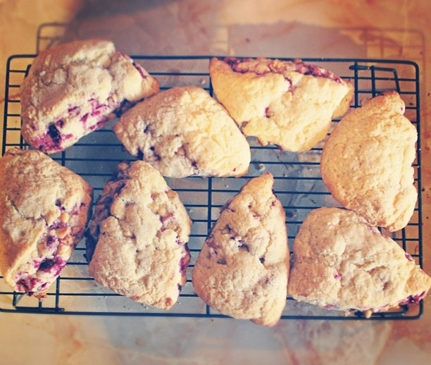Raspberry White Chocolate Scones | cooking. to try | Pinterest