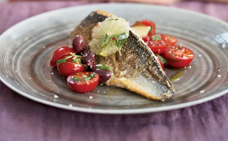 Poached Freshwater Bass With Refreshing Tomato Green Olive Salsa ...